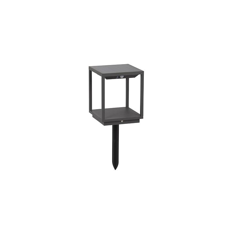 Moderne Buitenlamp Donkergrijs Solar Schemer/beweging - Volendam