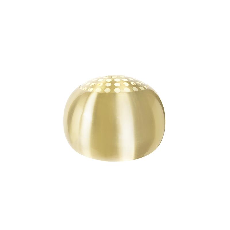 Ronde Kap 33/20 Mat Messing - Globe