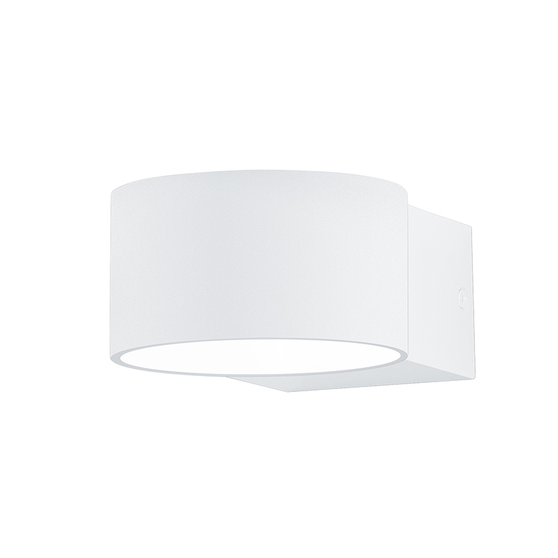 Moderne ronde wandlamp wit mat incl. LED - Lacapo