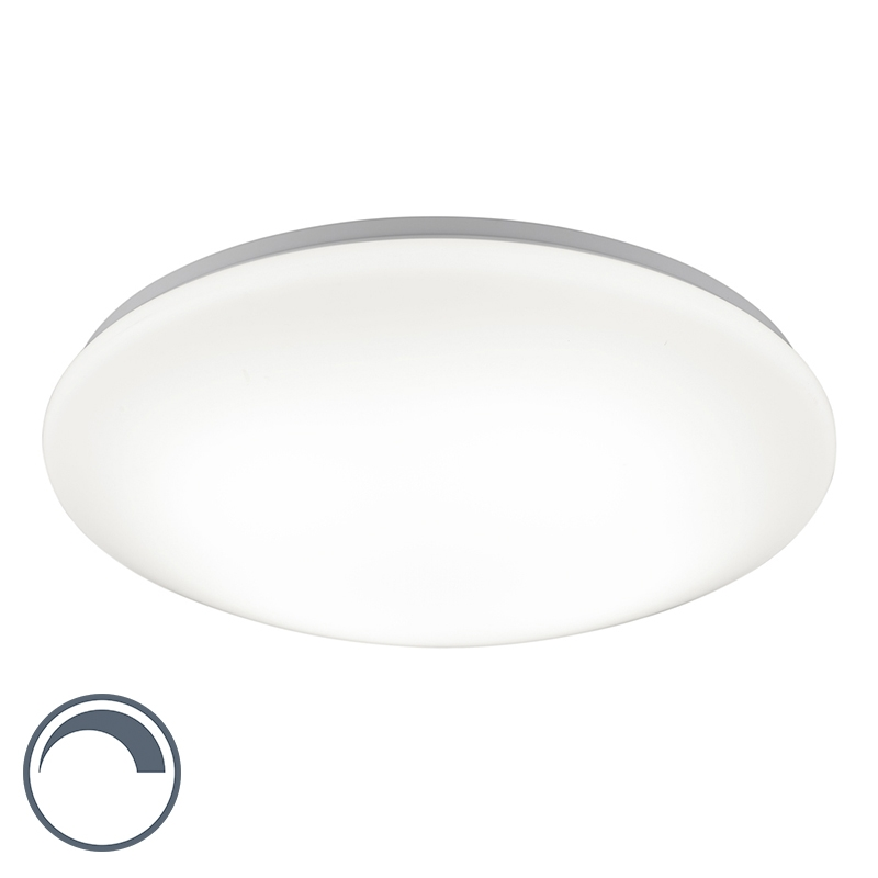 Moderne ronde plafondlamp wit 45cm incl. LED met dimfunctie - Converter