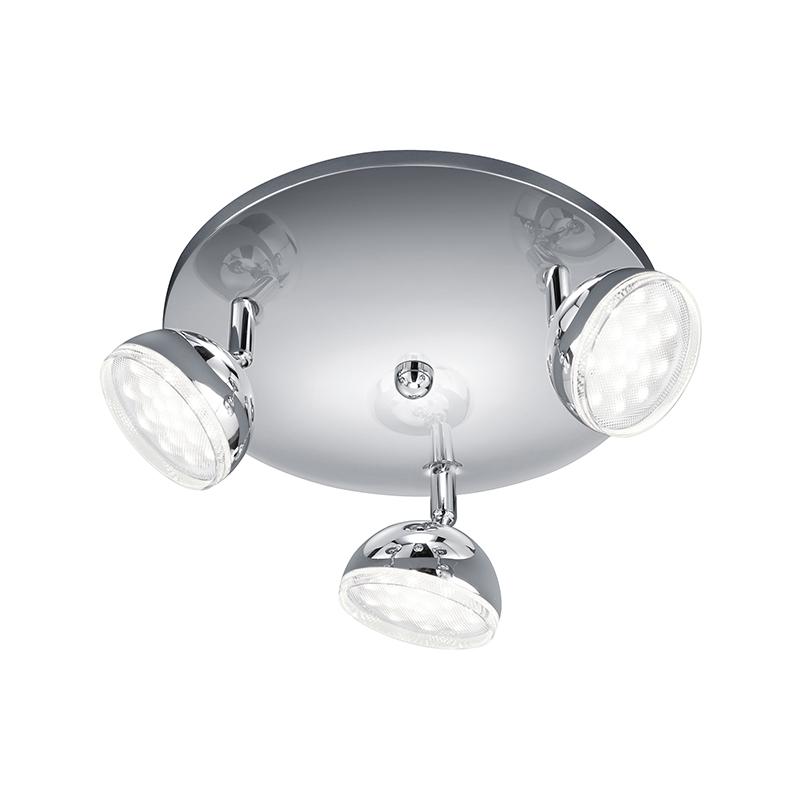 Moderne ronde spot chroom incl. LED - Bolou