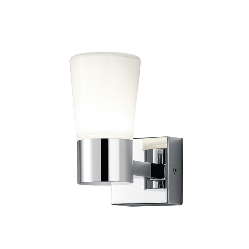 Moderne Badkamer Wandlamp Chroom Met 1 Glas Incl. Led - Nevio