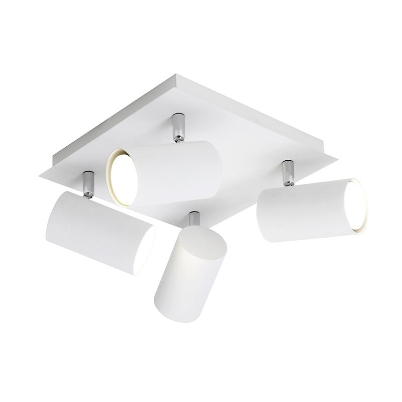 Moderne vierkante spot 4-lichts wit - Marley
