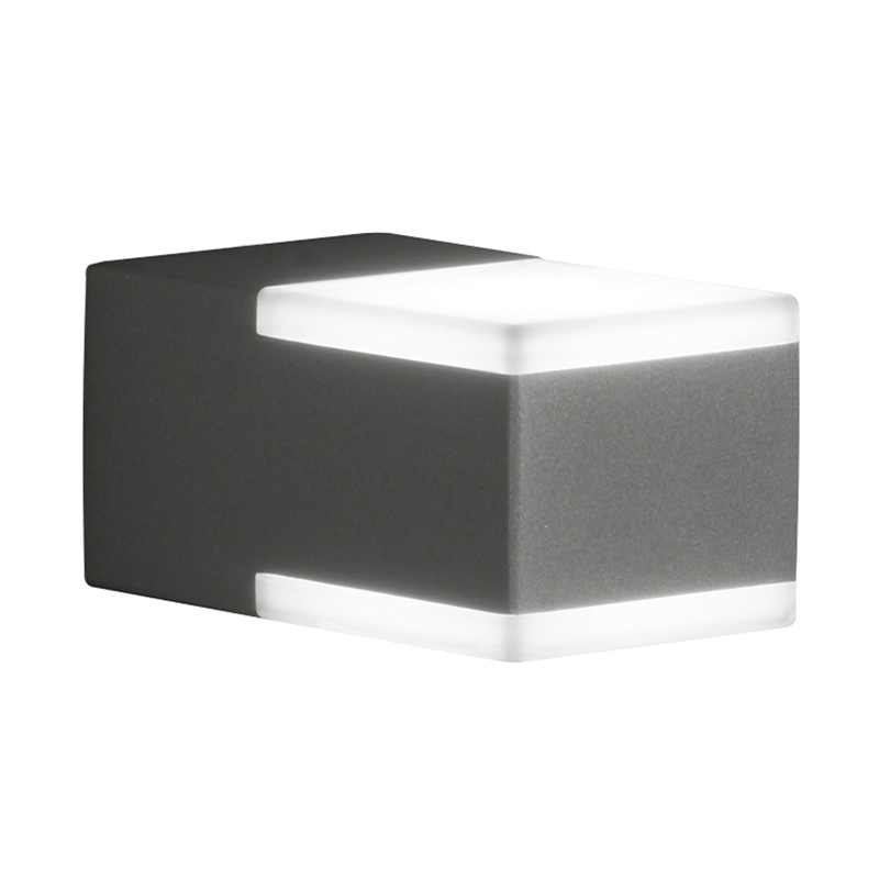 Moderne vierkante buitenwandlamp antraciet IP54 incl. LED - Don
