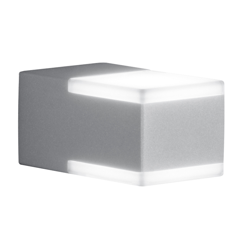 Moderne vierkante buitenwandlamp staal IP54 incl. LED - Don