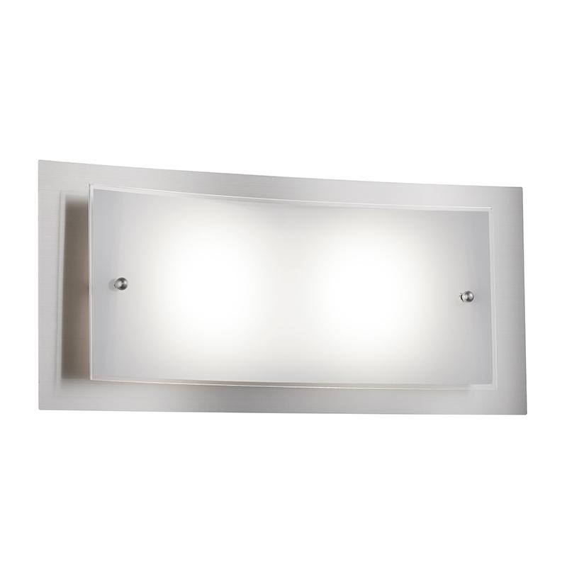 Moderne rechthoekige wandlamp staal incl. LED - Casillas