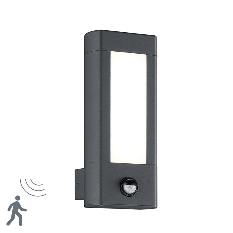 Moderne buitenwandlamp antraciet IP54 incl. LED en bewegingsmelder - Rhine