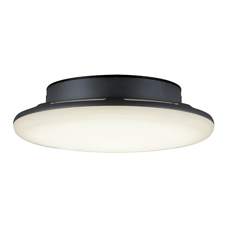 Moderne ronde buitenplafondlamp antraciet IP54 incl. LED - Bering