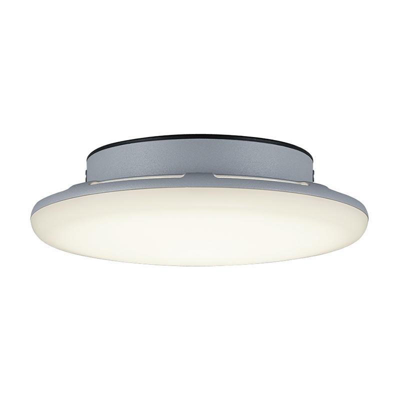 Moderne ronde buitenplafondlamp grijs IP54 incl. LED - Bering