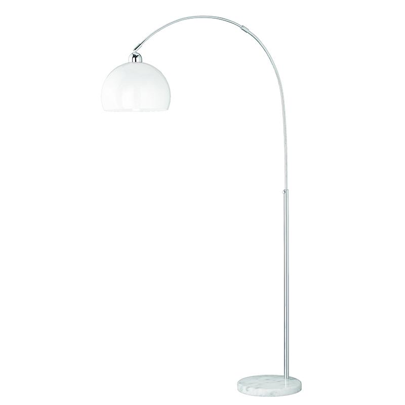 Klassieke boogvormige vloerlamp chroom - Junior