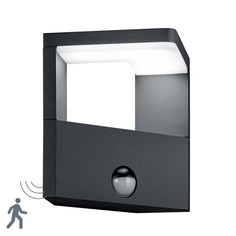 Moderne wandlamp antraciet incl. LED - Ganges