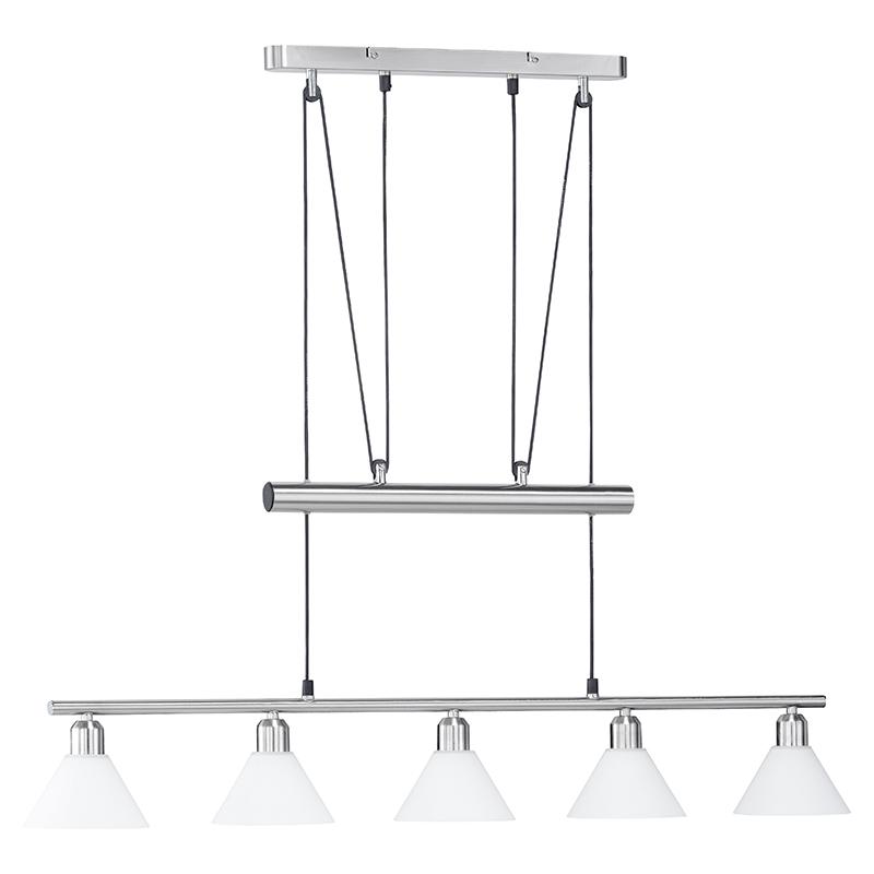 Moderne langwerpige hanglamp staal - Stamina