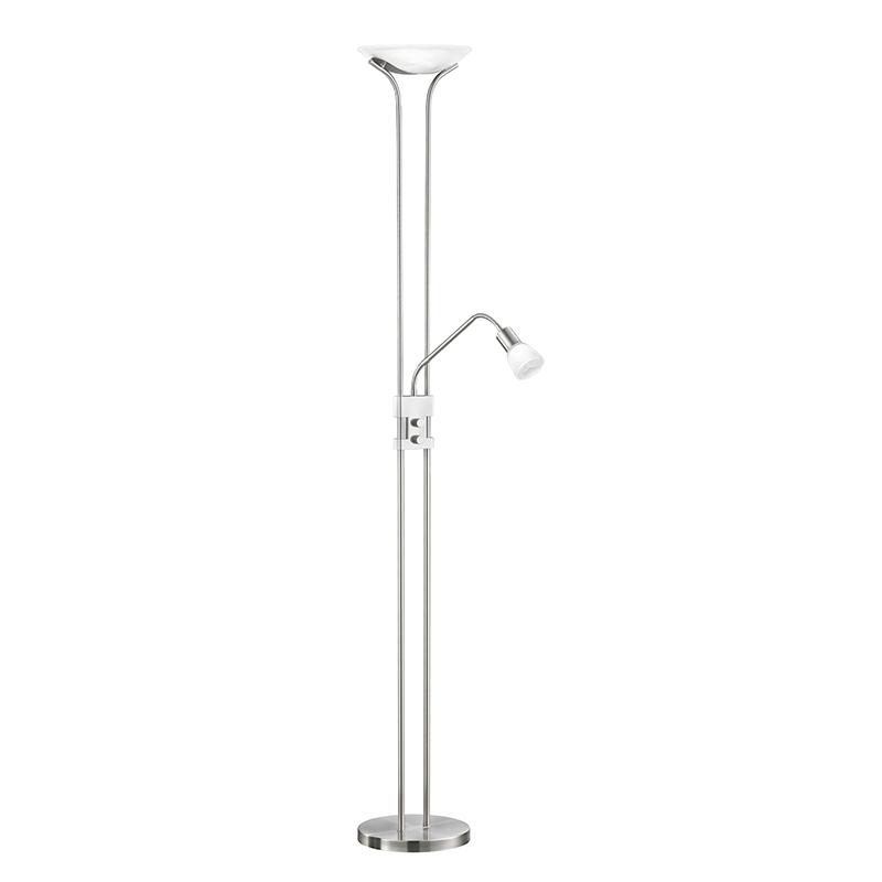 Moderne langwerpige vloerlamp staal incl. LED - Santo II