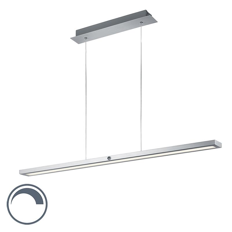 Nowoczesna wydłużona lampa wisząca z aluminium, w tym LED - Silas