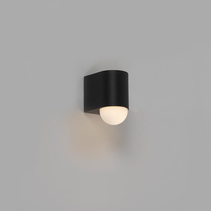 Moderne buitenwandlamp zwart incl. LED - Prim