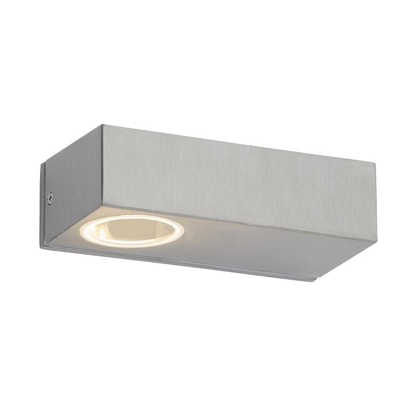 Moderne langwerpige buitenwandlamp staal incl. LED - Jens