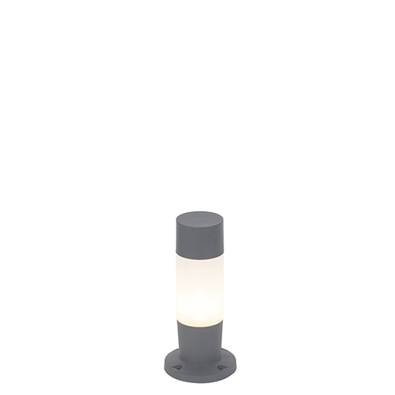 Moderne buitenlamp paal donkergrijs 50cm - Carlton