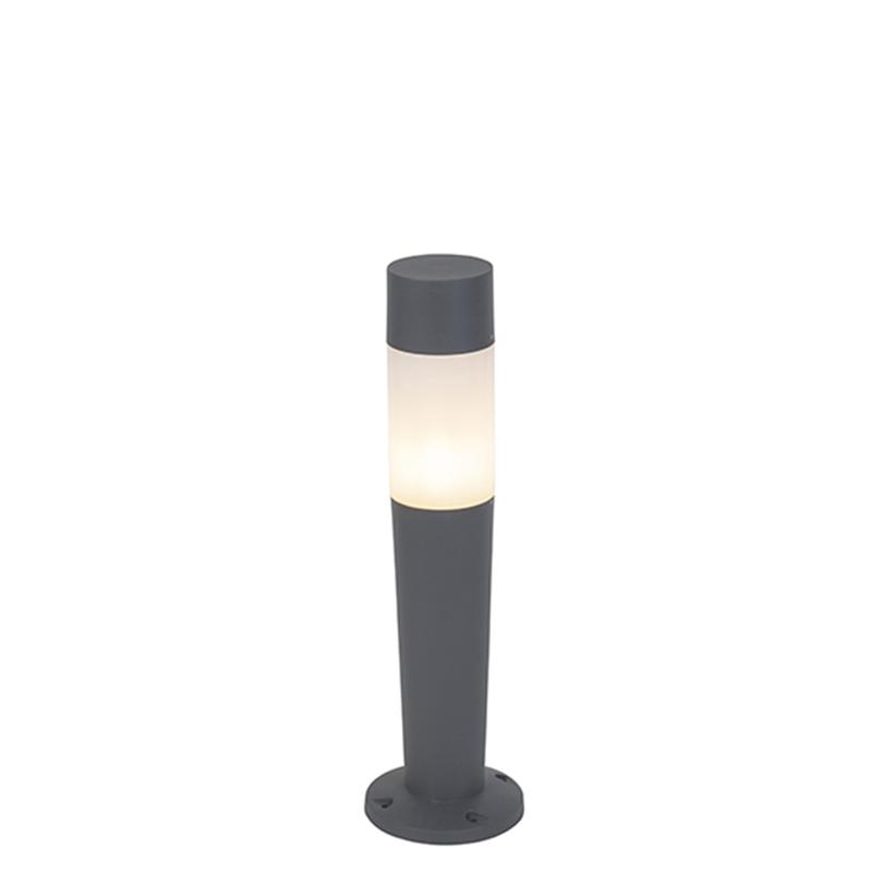 Moderne buitenlamp paal donkergrijs 80cm - Carlton