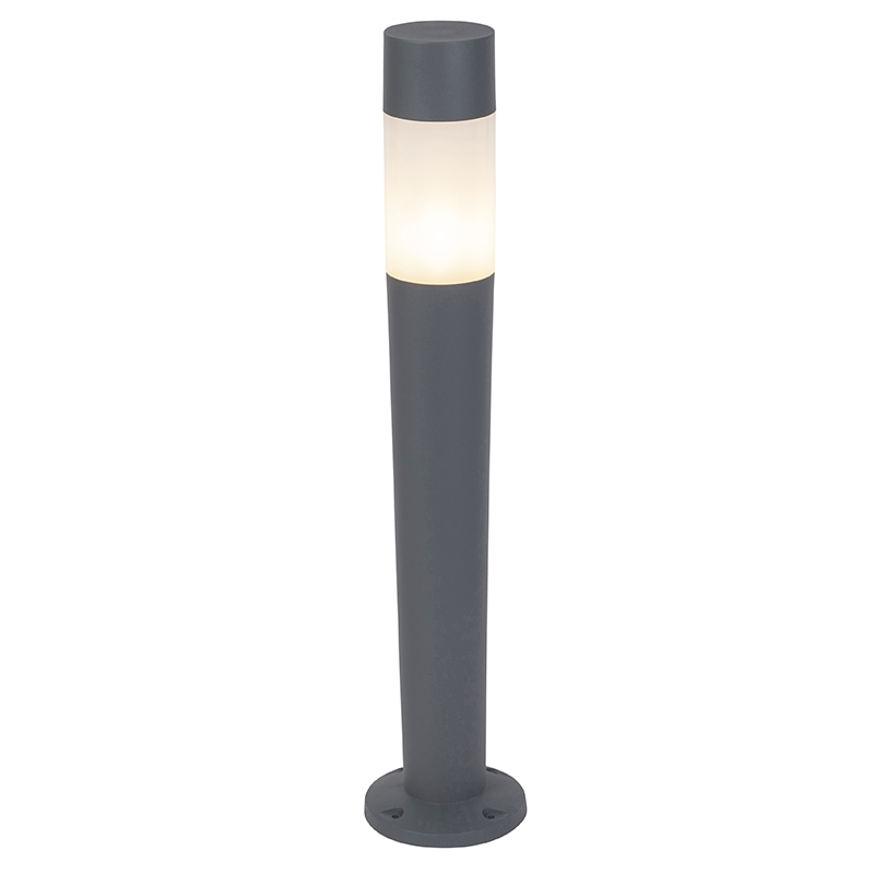 Moderne buitenlamp paal donkergrijs 110cm - Carlton