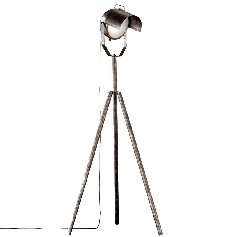 Industri�le tripod vloerlamp zilver - Cinema