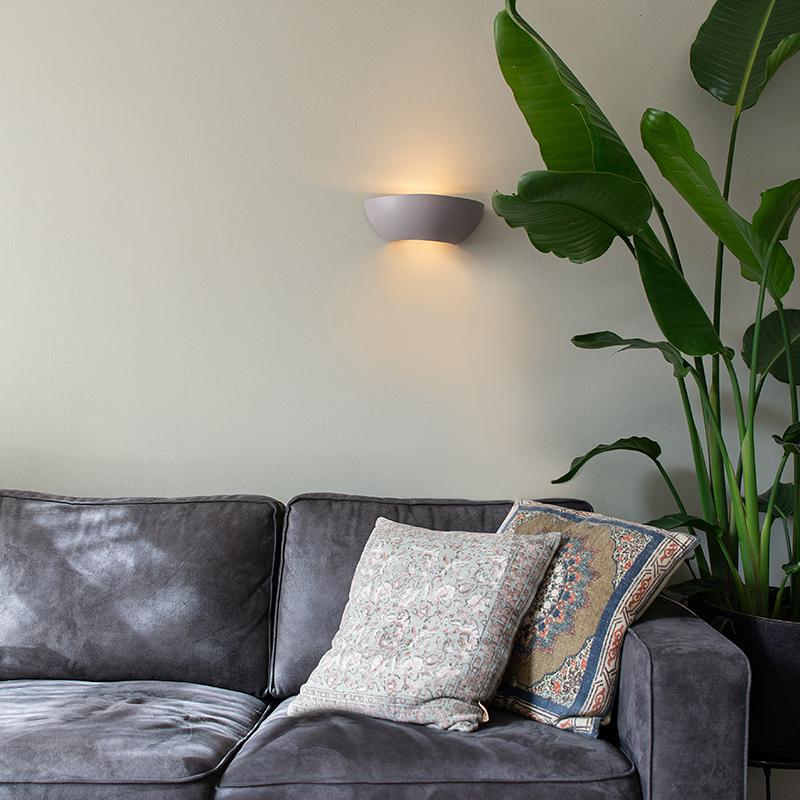 Industriële halfronde wandlamp beton - Chatou