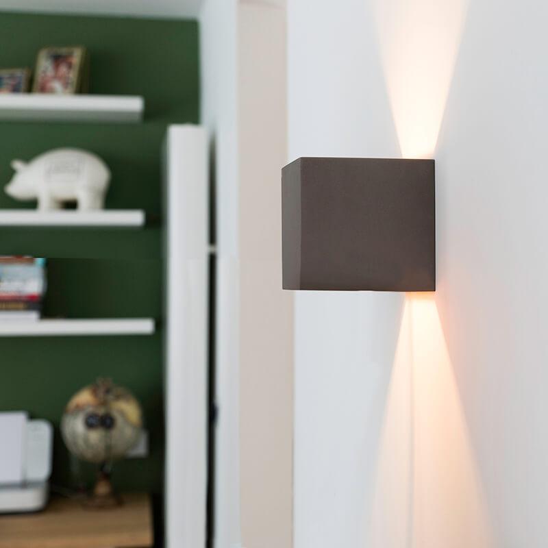 Industri�le wandlamp beton - Box