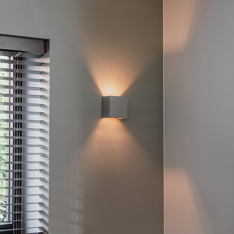 Industriële wandlamp beton - Meave