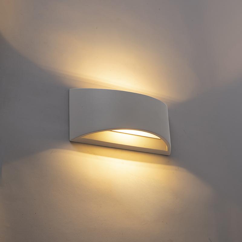 Industriële wandlamp grijs beton - Creil