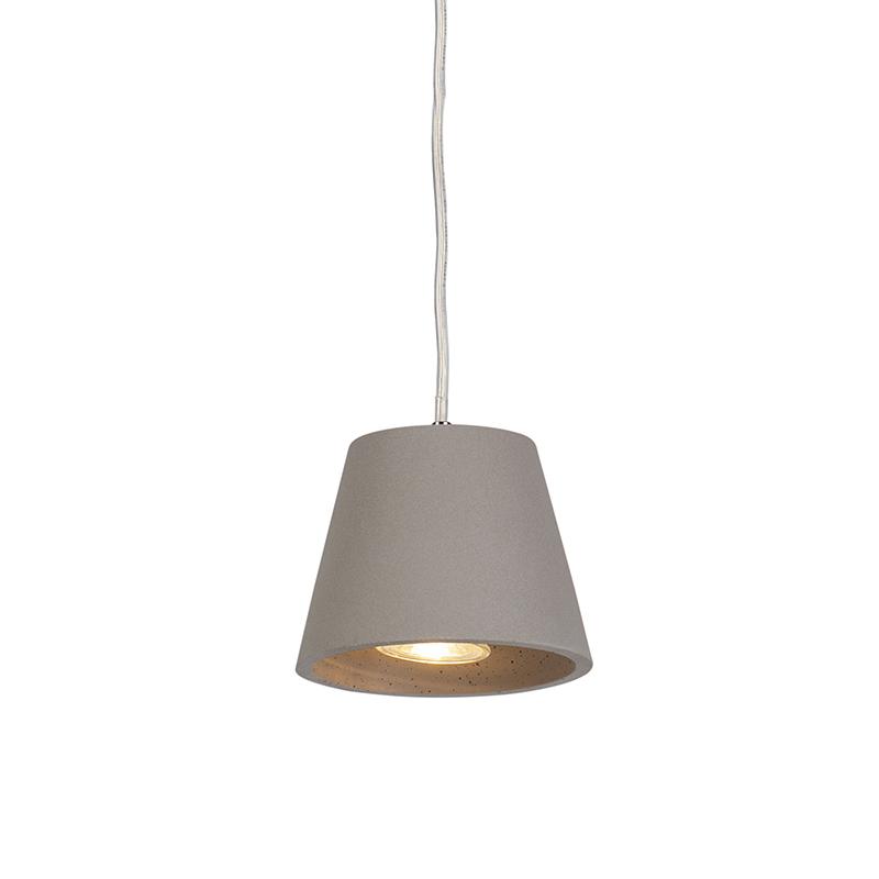 Industriele ronde hanglamp grijs beton - Cupa