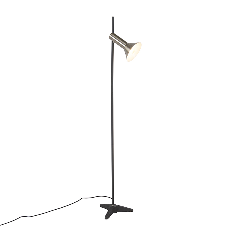 Moderne Vloerlamp Staal 1-lichts - Speaker