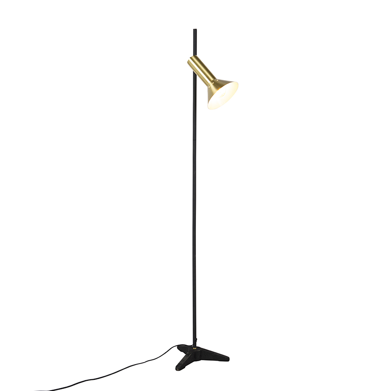 Moderne Vloerlamp Messing 1-lichts - Speaker