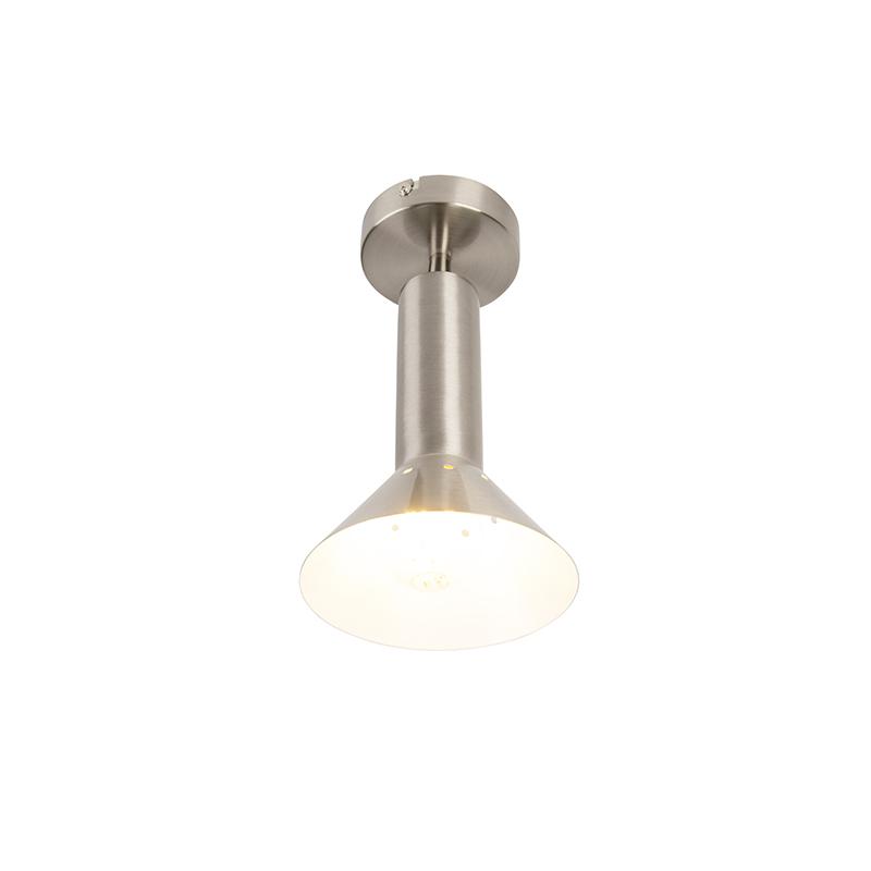 Moderne plafondlamp staal 1-lichts - Speaker