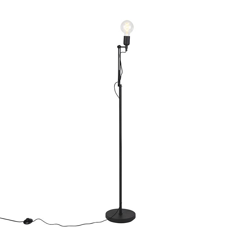 Przemysłowa lampa stojąca czarna - Slide