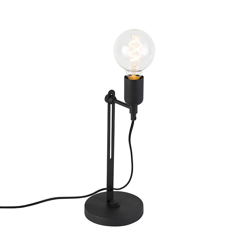 Przemysłowa lampa stołowa czarna - Slide