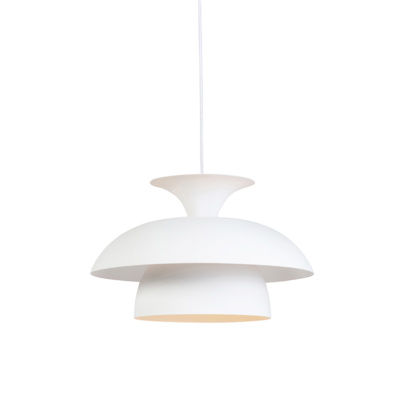 Moderne ronde hanglamp wit 3-laags - Titus