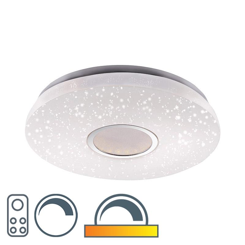 Moderne Plafondlamp Met Sterrenhemel Incl. Led Afstandsbedieding - Jona