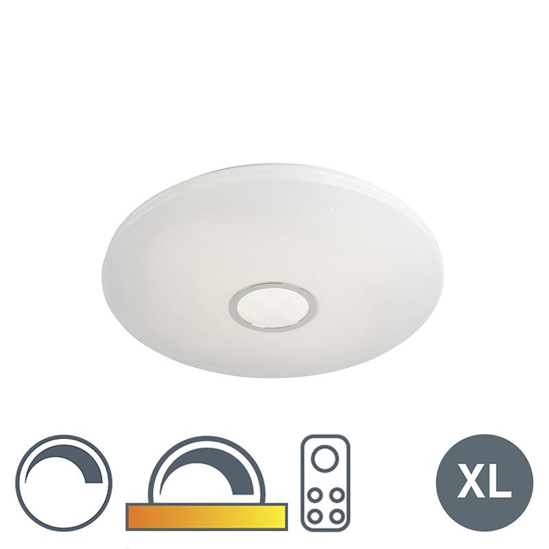 Plafondlamp Wit Met Sterrenhemel 60cm Incl. Led 40w Met Afstandsbediening - Jona