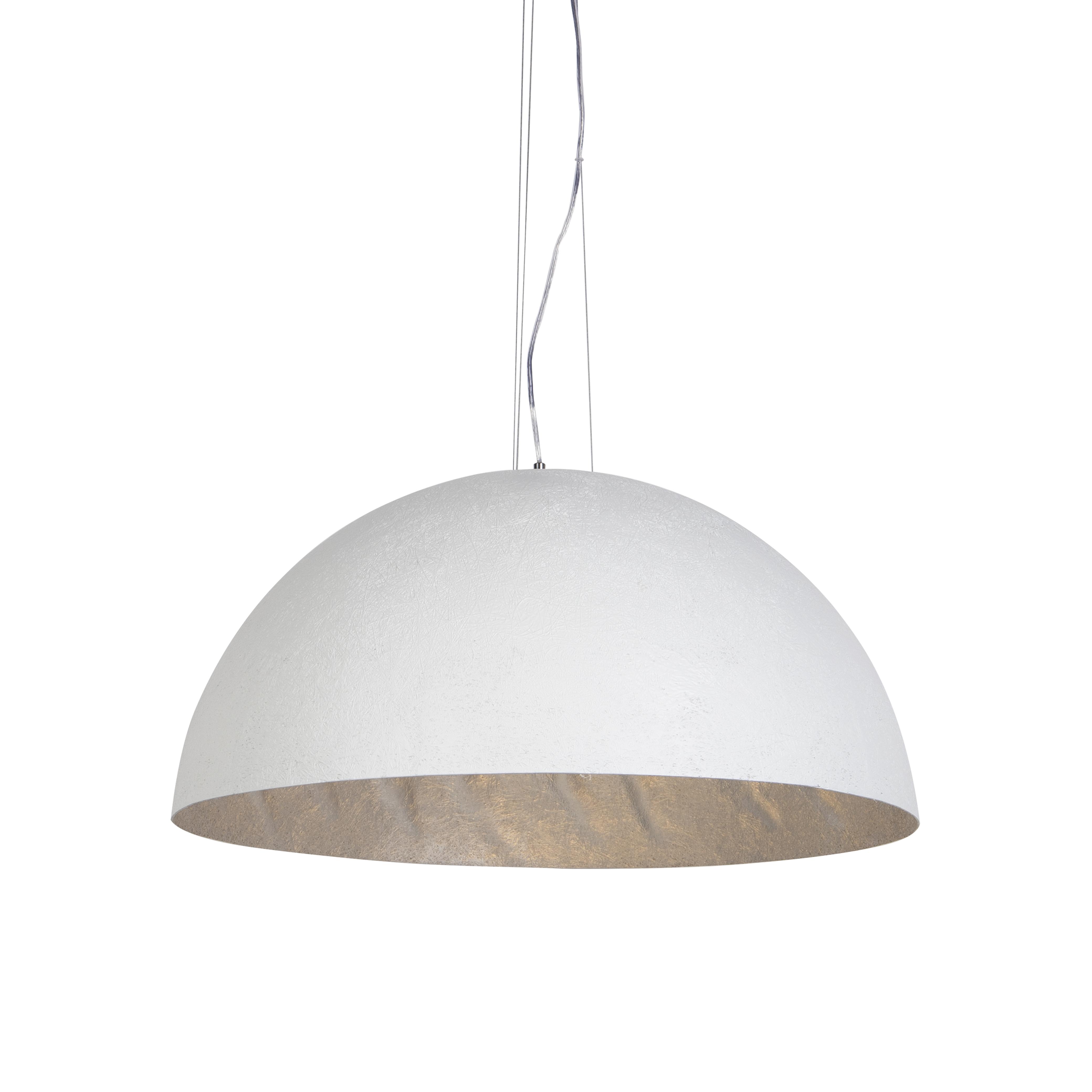 Nowoczesna lampa wisząca biała 70cm - Magna
