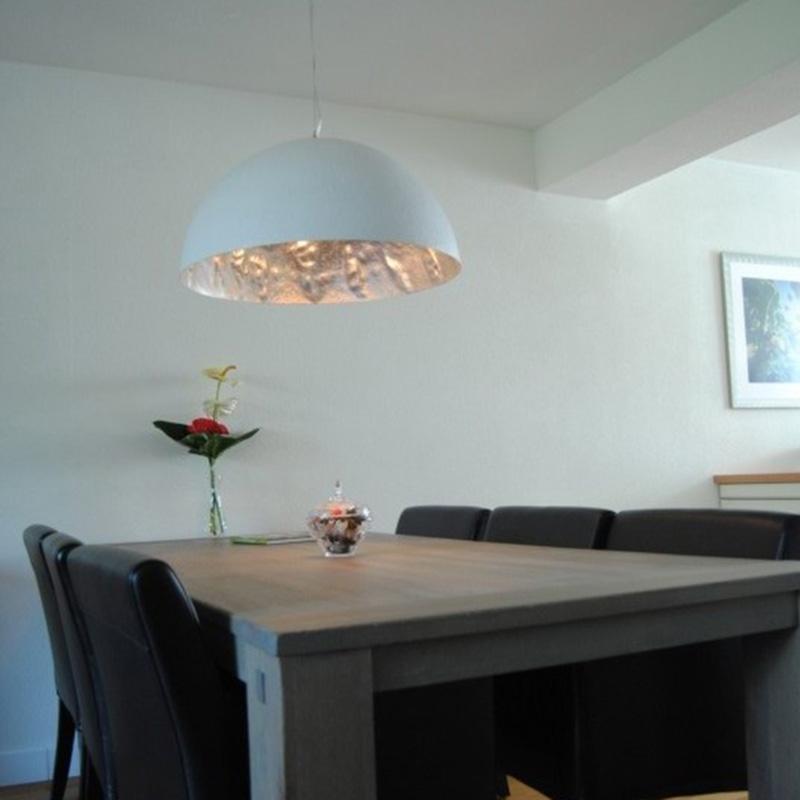 Moderne hanglamp wit 70 cm - Magna