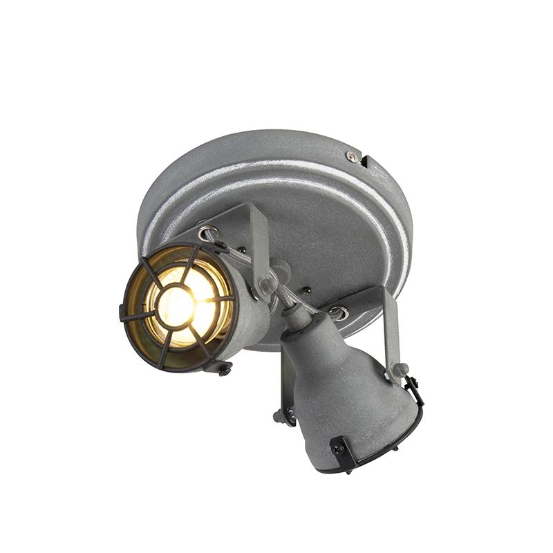 Stoere spot betonlook 2-lichts - Medox