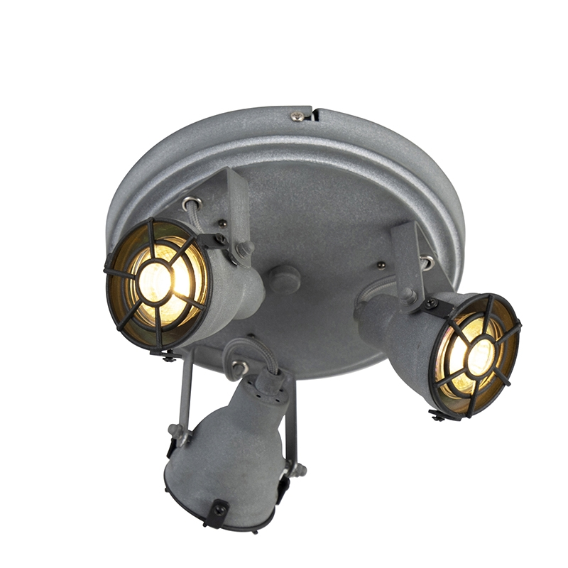 Stoere spot betonlook 3-lichts - Medox