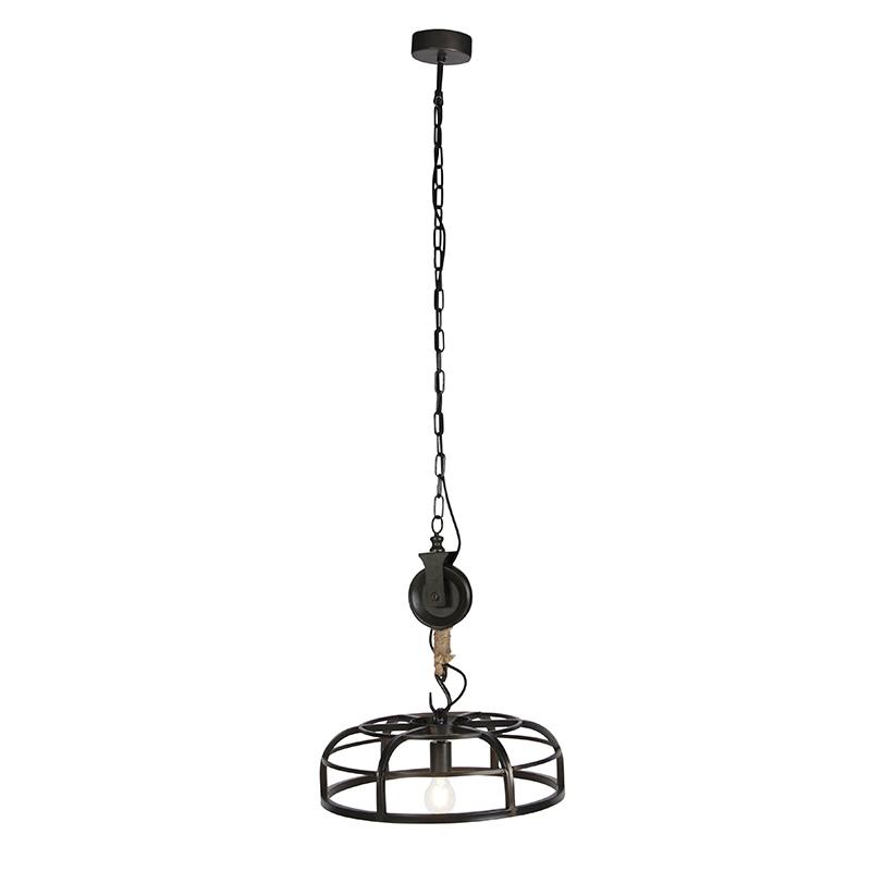 Industriële hanglamp zwart staal Camelot