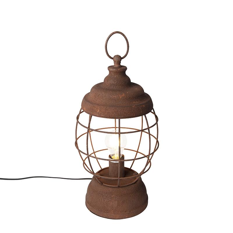 Rustieke tafellamp roest - Lentera