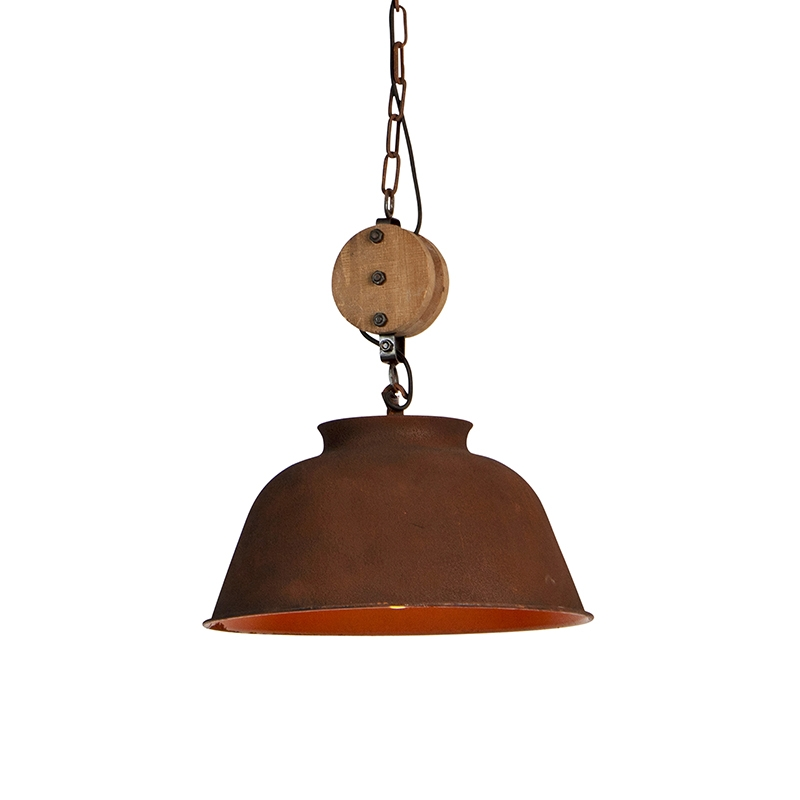 Industriele hanglamp roest - Bax