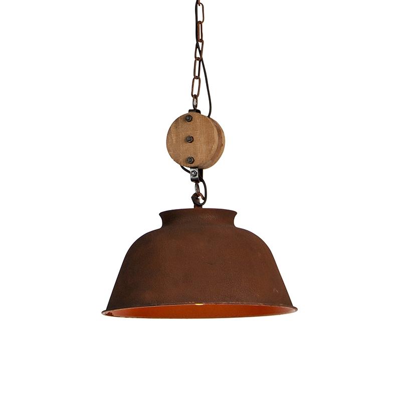Przemysłowa lampa wisząca rdza - Bax