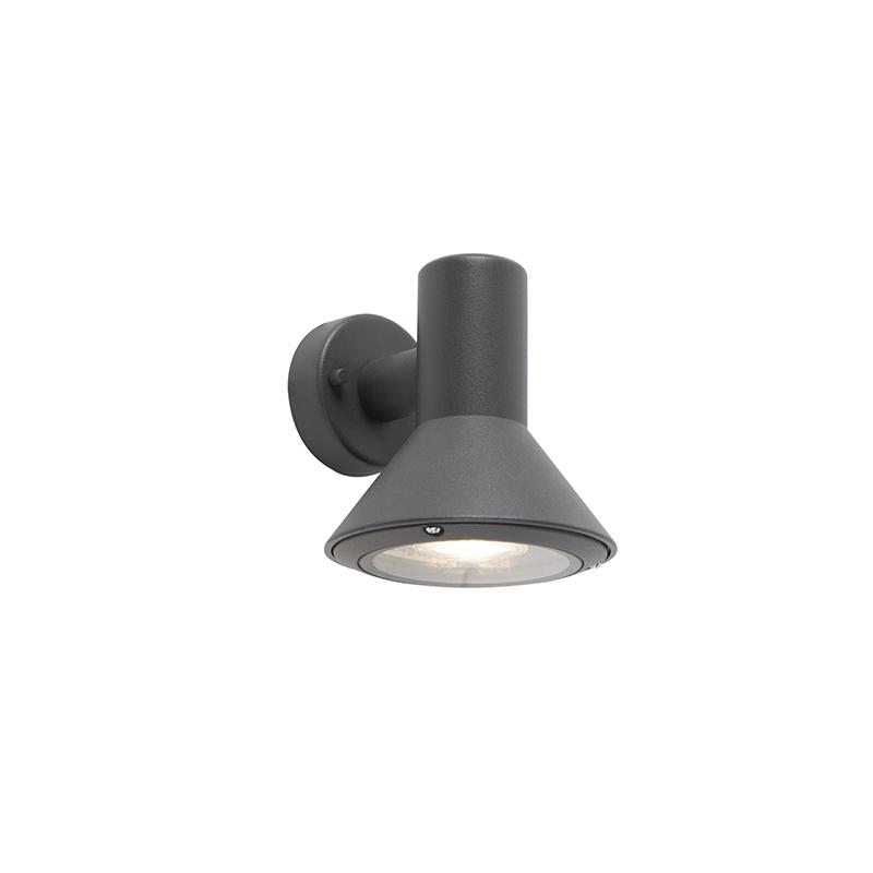 Moderne buitenwandlamp donkergrijs - Humilis