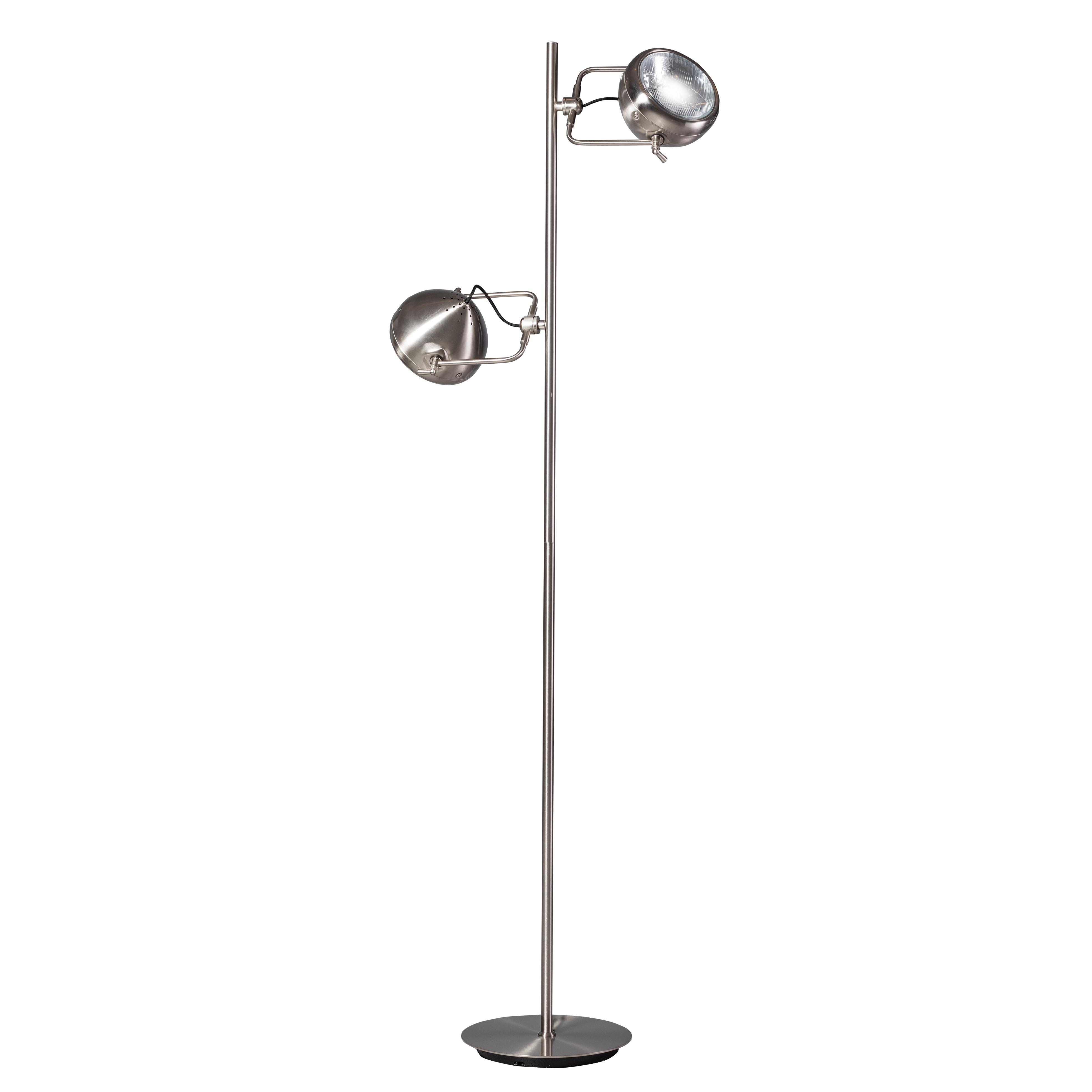Moderne vloerlamp staal met 2 spots - Victor
