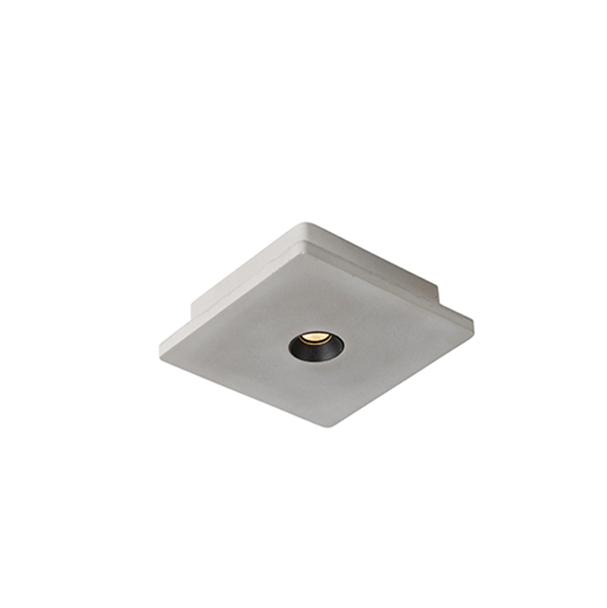 Industriele vierkante spot beton incl. LED - Talas