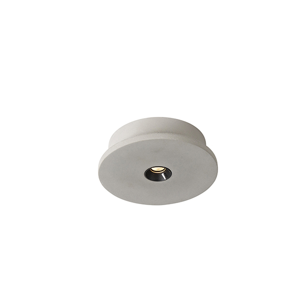 Industriele ronde spot beton incl. LED - Talas