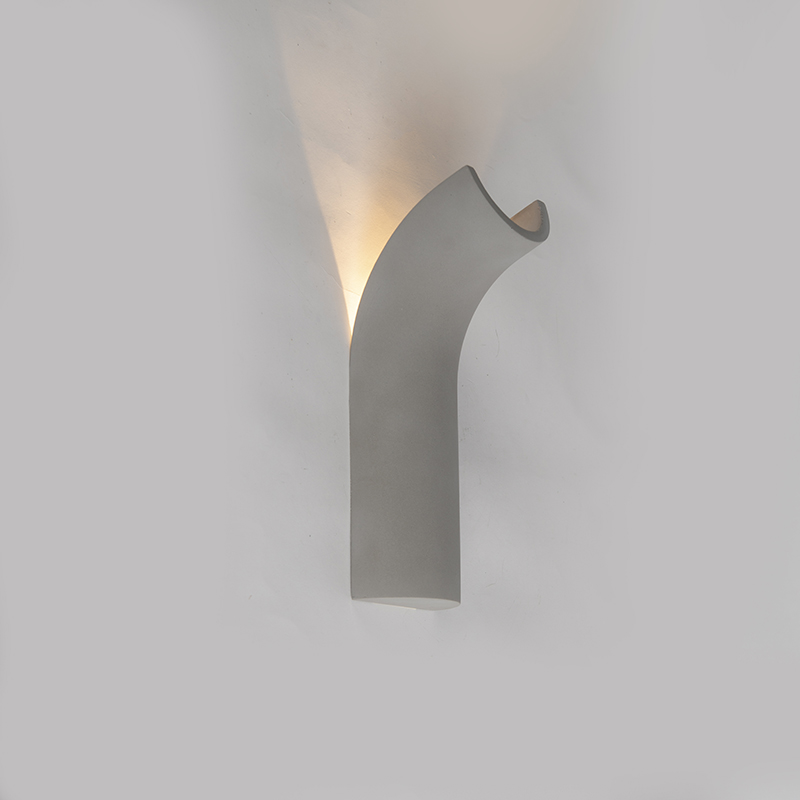 Industriele wandlamp beton incl. LED - Krit